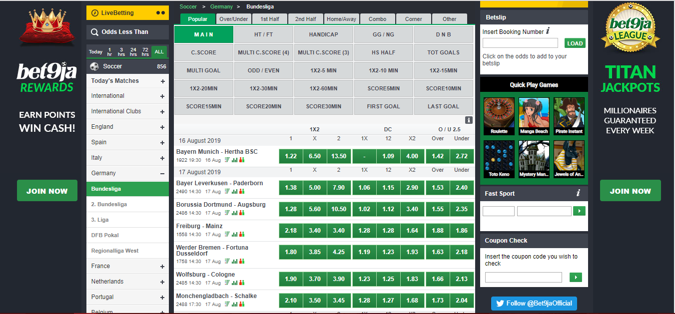 Betting bundesliga matches